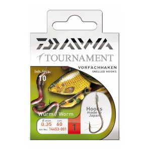 Daiwa Tournament háček navázaný Gr. 6-0,30mm-60cm-10ks