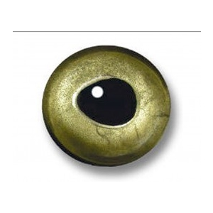 Sybai 3D epoxy eyes - 7,5mm real green
