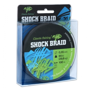 Giants Fishing Splétaná šňůra Shock Braid 100m 0,35mm 29,6kg
