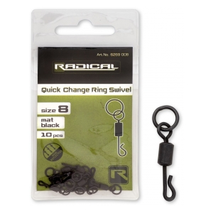 Radical Obratlík Quick Change Ring Swivel vel. 8 mat black